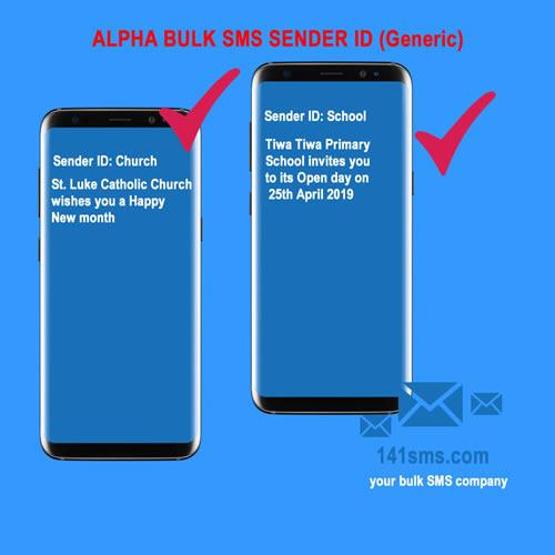 Alpha Generic bulk SMS Sender ID