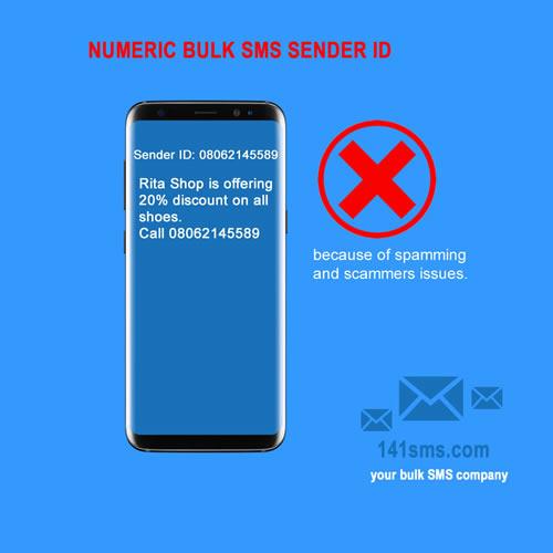 Numeric bulk SMS Sender ID